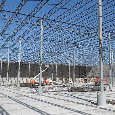 Structural steel fabrication erection young s building for Vision industries group